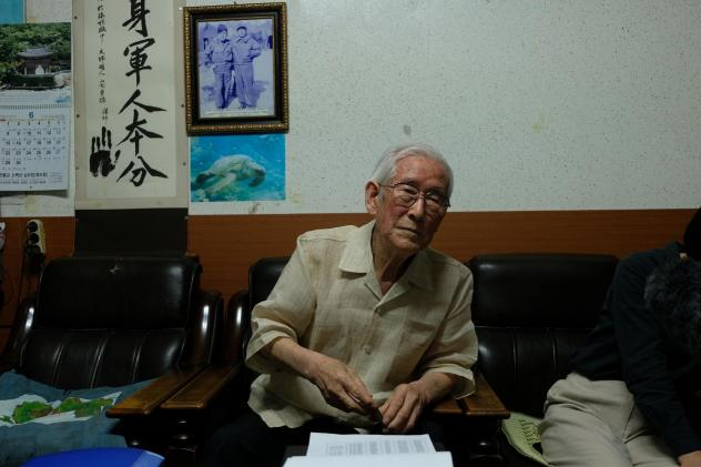 Park Tae-seung, 87, speaks during an interview in his office in Yeongju City about his experiences as a child soldier, 70 years after he was drafted in 1950, at age 17, during the Korean War.