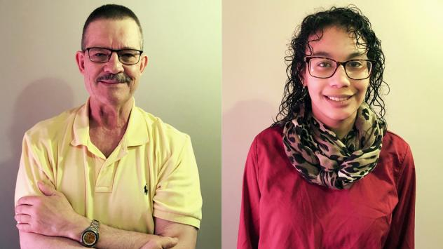 Dr. Joseph Kras and his daughter, Sophie, at their StoryCorps recording in Olivette, Mo.