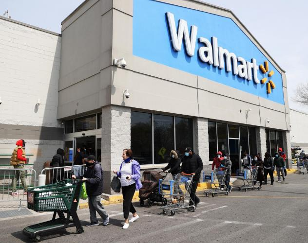 Walmart and Sam's Club will begin requiring shoppers to wear masks inside their stores on Monday.