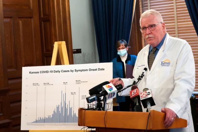 Dr. Lee Norman, secretary of the Kansas Department of Health and Environment, discussed the resurgence in coronavirus cases in the state this week. The state hospital association fears there will be delays in getting coronavirus data under new federal ru