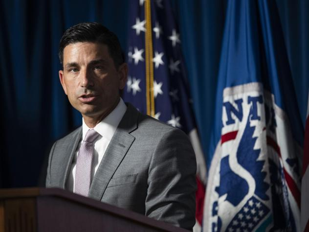 Chad Wolf, acting secretary of the Department of Homeland Security, addresses a news conference Tuesday in Washington, D.C., on the situation in Portland, Ore.