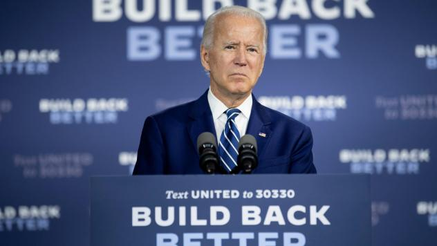 """Presumptive Democratic presidential nominee Joe Biden, seen here on July 21, has unveiled the fourth plank of his """"Build Back Better"""" agenda to address racial inequities."""