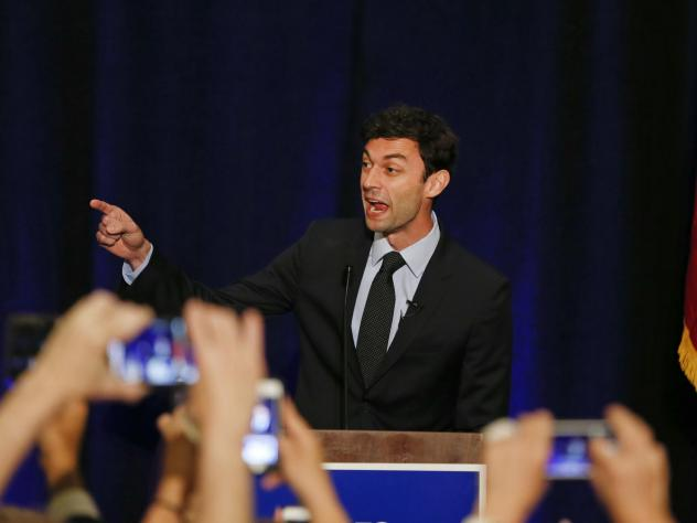 Jon Ossoff, seen here in 2017, criticized an ad by his Republican rival, Sen. David Perdue.