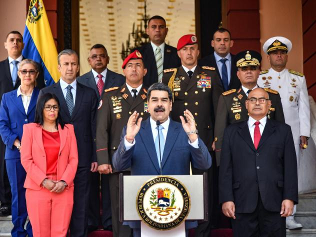President of Venezuela Nicolás Maduro speaks at Miraflores government palace on March 12, in Caracas, Venezuela. Despite international pressure and attempts to remove him, the leader has clung to power.