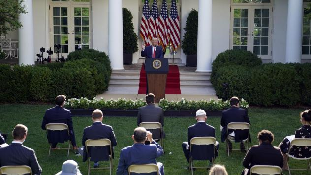 Like his predecessors, President Trump often uses the Rose Garden for ceremonies and news conferences.