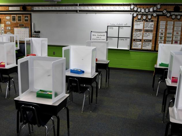 Layer Elementary School in Winter Springs, Florida is one of many schools across the region reopening with COVID-19 social distancing and sanitation protocols.