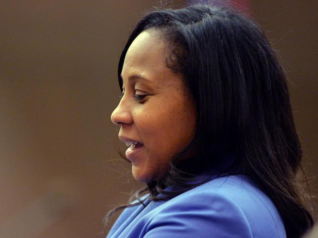 Fani Willis is poised to become the next Fulton County District Attorney after winning a runoff election against her former boss on Tuesday. Willis is seen here in 2014 during the trial of 12 former Atlanta Public Schools educators accused in a conspirac