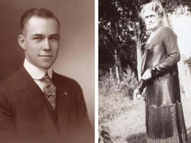 Tennessee freshman delegate Harry Burn and his mother Febb, who urged him to vote for the 19th amendment in a letter.