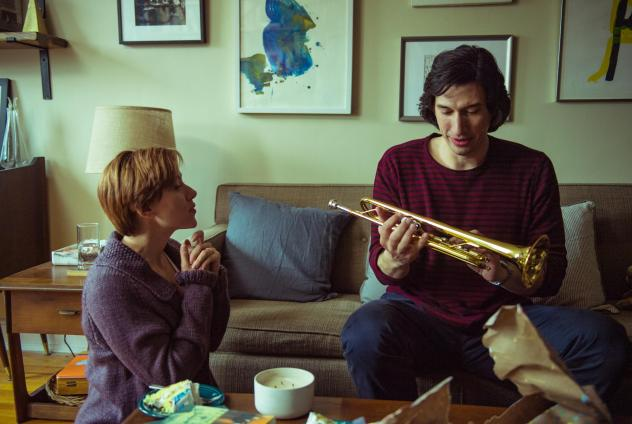 Actors Scarlett Johansson and Adam Driver in a scene from <em>Marriage Story. </em>The award-winning 2019 film can be watched with audio description that conveys scenes to viewers who are visually impaired. But <em>Parasite, </em>another popular award-wi