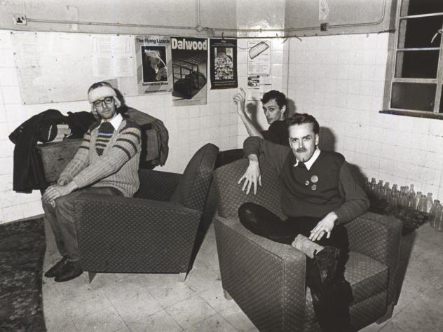 Members of This Heat — from left, Gareth Williams, Charles Bullen and Charles Hayward  — in Cold Storage.