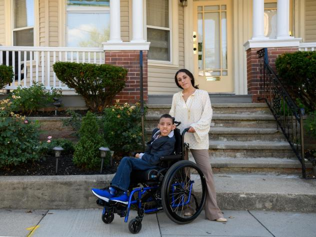 Kendra Mendoza's son, Joshua, has cerebral palsy. She says he loves school, but got little of the therapy he needed this spring.