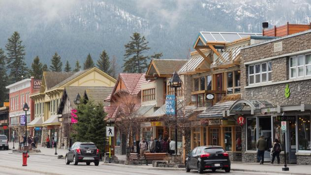 A Kentucky man faces stiff consequences after being charged with breaking Canada's Quarantine Act in Banff, Alberta, in June. The town of Banff is seen here in April 2017.