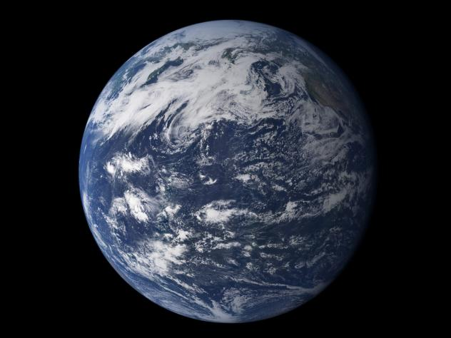 The Pacific Ocean from space. In both liquid and frozen form, water covers most of Earth's surface and there's been a debate among scientists about where all the water originated.