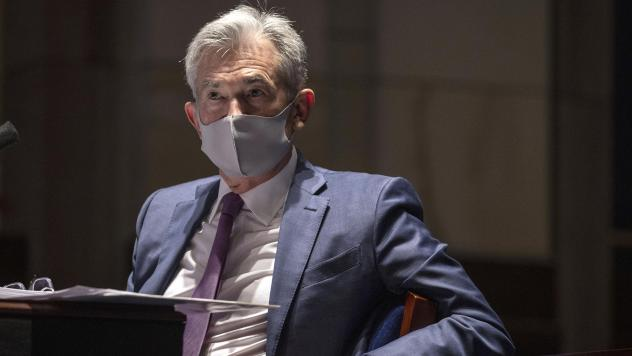Federal Reserve Chairman Jerome Powell testifies during a House committee hearing in June.
