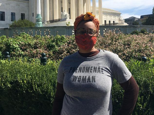 """Renee-Lauren Ellis, a Washington, D.C.-area attorney, says, """"It's dire that something as fundamental as what I do with my body is up for debate still, in 2020."""""""