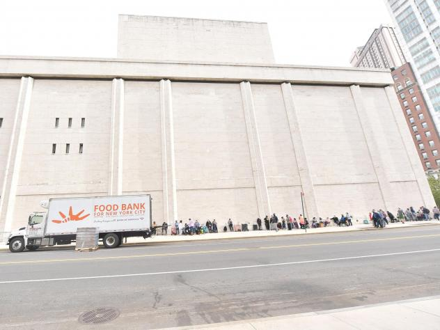Food Bank For New York City hosts a pop-up food pantry during Hunger Action Month at Lincoln Center on September 24, 2020.