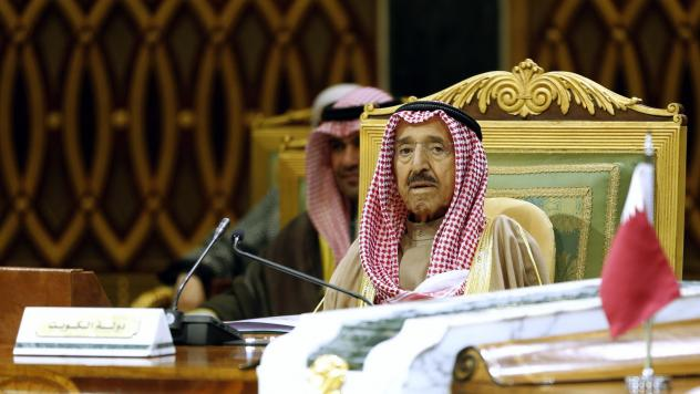 Kuwait state television announced Tuesday that the country's ruler, Sheikh Sabah al-Ahmad al-Sabah, pictured last year at the 40th Gulf Cooperation Council Summit in Saudi Arabia, has died.
