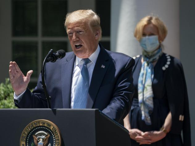 "President Trump announced the creation of Operation Warp Speed in May to fast-track a coronavirus vaccine. He called it ""a massive scientific and industrial, logistic endeavor unlike anything our country has seen since the Manhattan Project."""