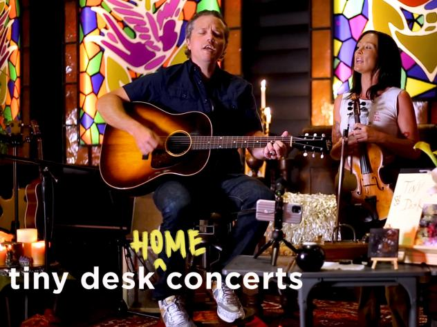 Jason Isbell and Amanda Shires play a Tiny Desk (home) concert.
