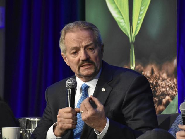 """U.S. Bureau of Land Management Acting Director William """"Perry"""" Pendley speaks at a conference for journalists in Fort Collins, Colo., last year."""
