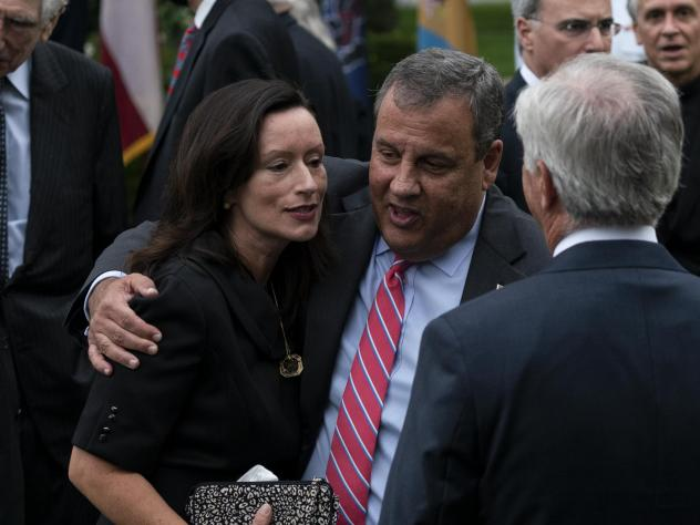 Chris Christie announced he was released from a N.J. hospital Saturday, a week after checking in for mild COVID-19 symptoms. The former New Jersey governor was one of several Republicans to test positive after attending a Sept. 26 event (pictured above)