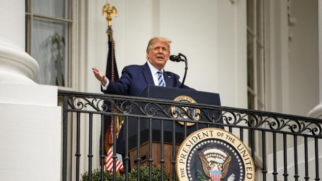 President Trump addressed a rally on Saturday, nine days after he tested positive for the coronavirus. Several health experts told NPR that based on what Trump's doctors have said about Trump's coronavirus experience, he's likely no longer contagious.