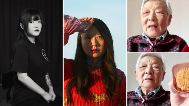 From left: Deng Ge is a rap mogul who became a lockdown activist. Poet Sally Wen Mao Mao uses her art to express her anger about how Chinese people are being portrayed in the pandemic. Writer and comic artist Laura Gao, living in the U.S., has a video ch