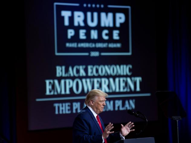 Even when President Trump unveiled his plan for Black economic empowerment, he put most of his emphasis on telling people why they shouldn't vote for his Democratic opponent Joe Biden.