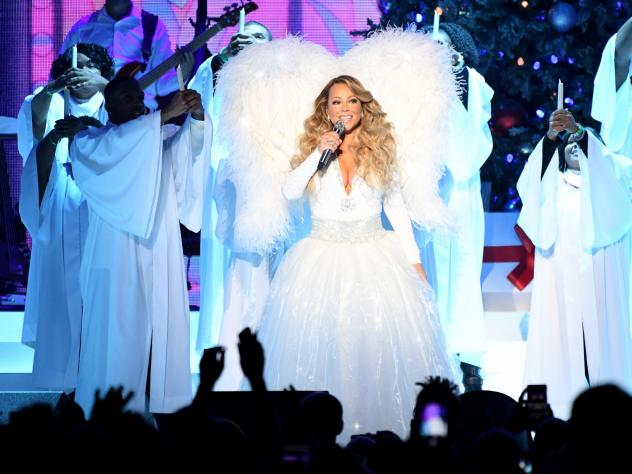 "Mariah Carey performs onstage during her ""All I Want For Christmas Is You"" tour at Madison Square Garden on Dec. 15, 2019 in New York City."