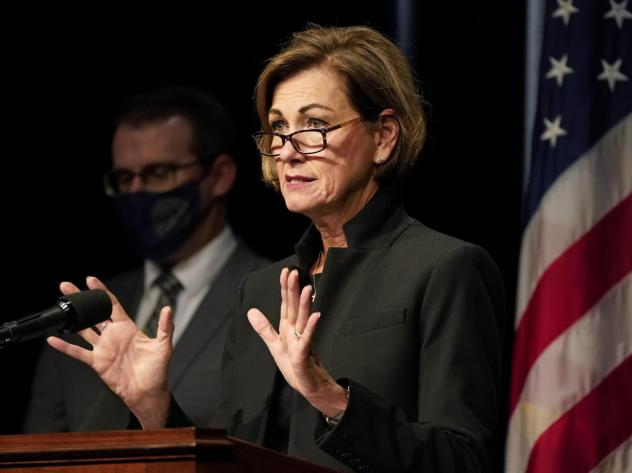 Iowa Gov. Kim Reynolds has signed a proclamation requiring Iowans over the age of 2 to wear masks in indoor public spaces starting Tuesday.