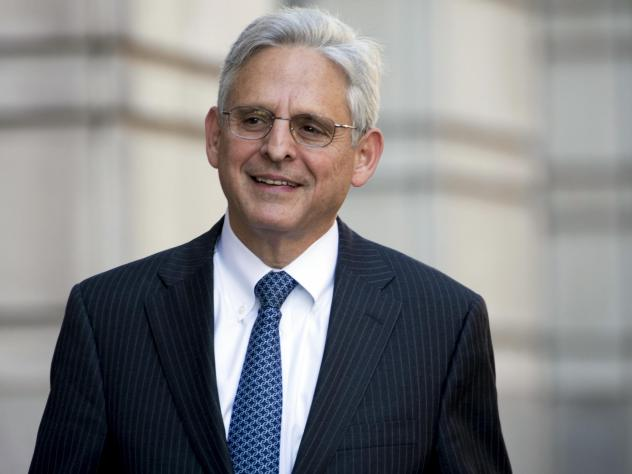 Federal Judge Merrick Garland walks into Federal District Court, Thursday, Nov. 2, 2017, in Washington. He could be in contention for a nomination to become attorney general.