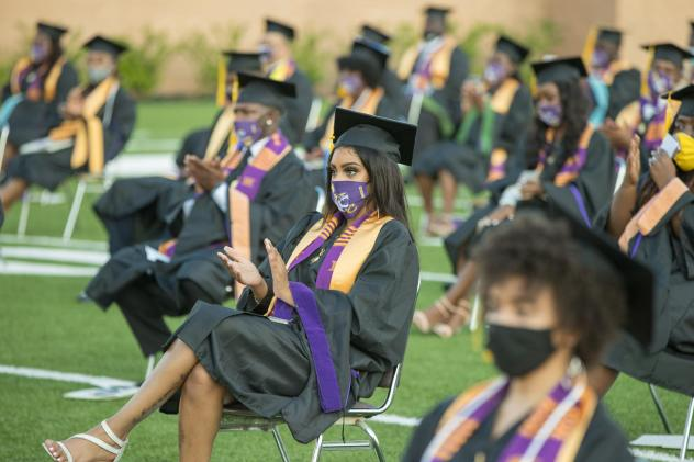 Roslyn Clark Artis, president of Benedict College, hosted a graduation ceremony for 180 students in the school's football stadium in August. She says she would recommend a socially distanced commencement to other colleges and universities — but she ack
