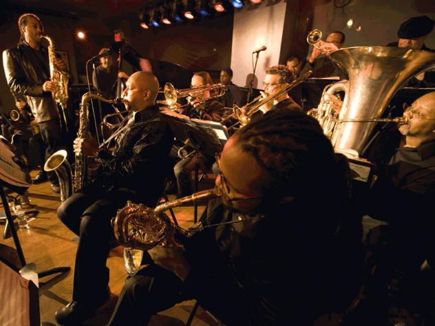 The Mingus Big Band, playing a set at The Jazz Standard in 2008.