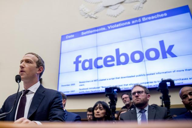Facebook CEO Mark Zuckerberg testifies before a House Financial Services Committee hearing in 2019.