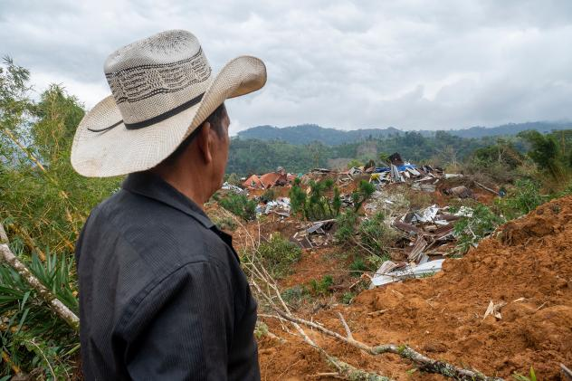 Two hurricanes destroyed bridges, roads, schools, health clinics and homes. Here is the aftermath in Protección in Honduras' Santa Barbara department on Dec. 11.