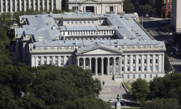 The U.S. Treasury Department, shown here in 2019, has been hacked along with the U.S. Commerce Department, according to reports. Russia is suspected, but denies involvement. The U.S. government has acknowledged a breach and says it is investigating to ma