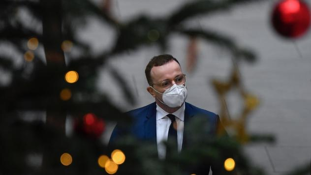 German Health Minister Jens Spahn arrives for a news conference Tuesday in Berlin. Germany is one of a handful of European countries to implement strict new coronavirus measures in anticipation of the holidays.