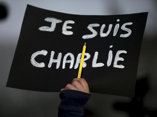 """In the wake of the 2015 attack in Paris, """"<em>Je Suis</em> Charlie"""" became a rallying cry for demonstrators grieving the victims at the controversial French publication <em>Charlie Hebdo</em>. On Wednesday, a French court found 14 individuals guilty of s"""