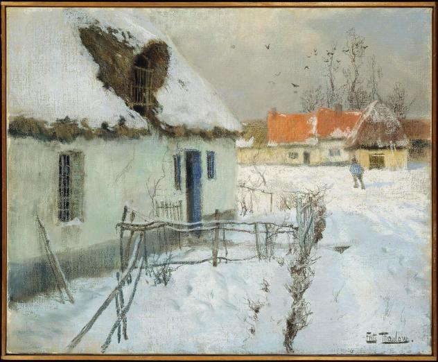 Frits Thaulow, <em>Cottages in the Snow</em>, 1891
