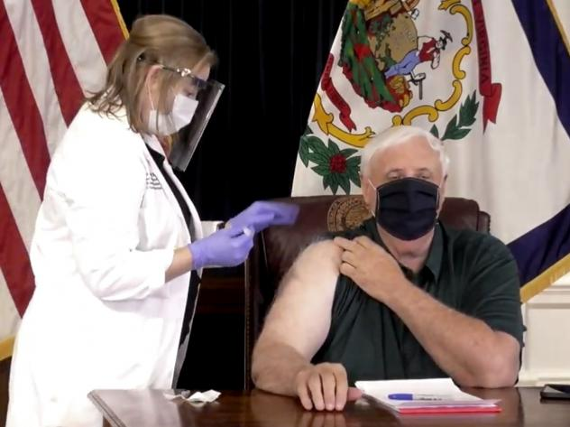 On Dec. 14, West Virginia Gov. Jim Justice was one of the first U.S. elected officials to get immunized against COVID-19. The state has since completed a first round of shots in all long-term care facilities, as well as front-line health workers.