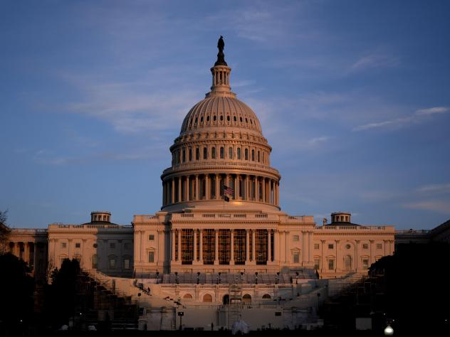 The U.S. Capitol Dome is seen on Thursday, the morning after a pro-Trump mob stormed the building as Congress was meeting to certify the votes of the Electoral College.