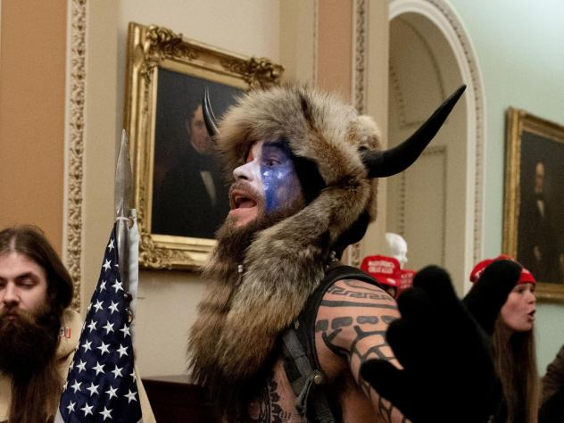 "The Justice Department announced Saturday that it had charged the man known as the ""QAnon shaman,"" Jacob Anthony Chansley in connection with the Capitol break-in on Wednesday."