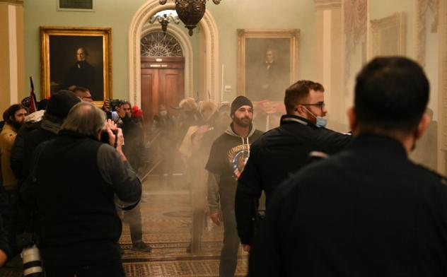 """Supporters of President Trump stormed the U.S. Capitol on January 6, 2021. Democratic Rep. Tim Ryan of Ohio says investigators are looking at """"potentially members of Congress"""" who gave tours to rioters prior to the insurrection."""