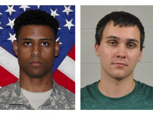 In 2017, Sean Urbanski (right) approached and fatally stabbed Army 1st Lt. Richard Collins III as he waited for a ride-share, on the University of Maryland, College Park campus.