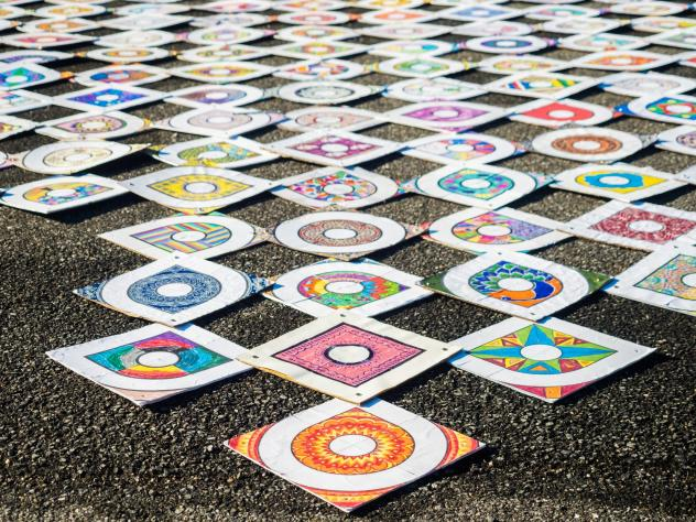 """The inauguration kolam project is """"not just a welcoming of a new administration. It's this idea that so many people came together with all of their stories,"""" says Sowmya Somnath, one of the organizers."""