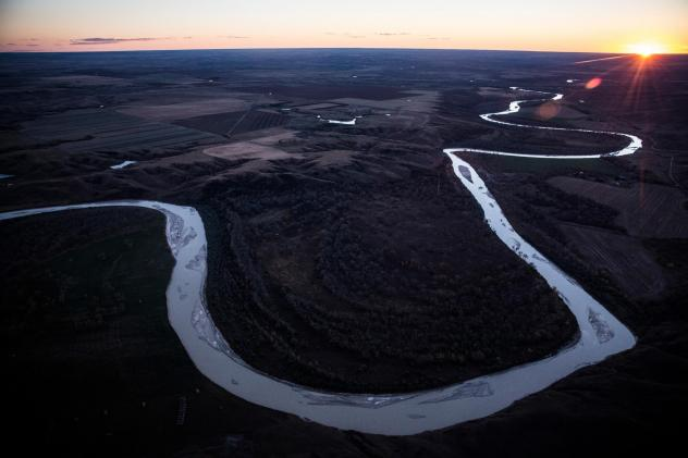 The Keystone XL pipeline was set to have passed near the White River in South Dakota. President Biden plans to block the controversial pipeline in one of his first acts of office.