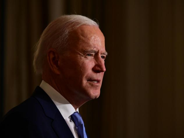 President Biden swears in presidential appointees during a virtual ceremony in the State Dining Room of the White House on Wednesday. Data on Thursday showed new claims for state unemployment benefits reached 900,000, showcasing the weakening U.S. jobs p