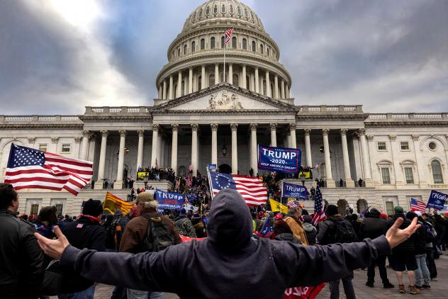 Pro-Trump protesters gather in front of the U.S. Capitol Building on Jan. 6, 2021 in Washington, D.C. They gathered to protest the ratification of President-elect Joe Biden's Electoral College victory over President Trump in the 2020 election. A pro-Trum