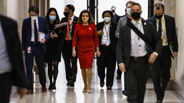 House Speaker Nancy Pelosi, seen at the Capitol on Feb. 11, has called for an independent commission to investigate the Jan. 6 Capitol insurrection.