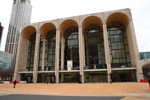 Metropolitan Opera House at Lincoln Center in New York City remains closed following restrictions imposed to slow the spread of coronavirus on Jan. 16, 2021.